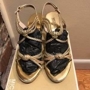 Gold Wedge Michael Kors Sandals
